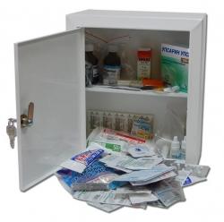 Аптечка офисная до 30 человек (металл шкаф)