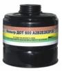 Фильтр ДОТ 600 для противгазов среднего габарита ПФСГ-98 марки А2В3Е3Р3D; А2В2Е2К2Р3D; А2В3Е3АХР3D; К3Р3D